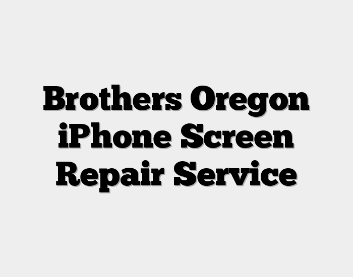 Brothers Oregon iPhone Screen Repair Service