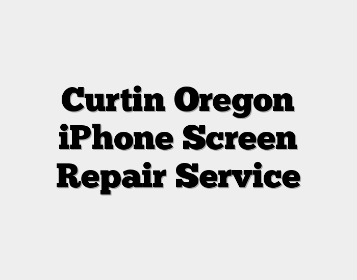 Curtin Oregon iPhone Screen Repair Service