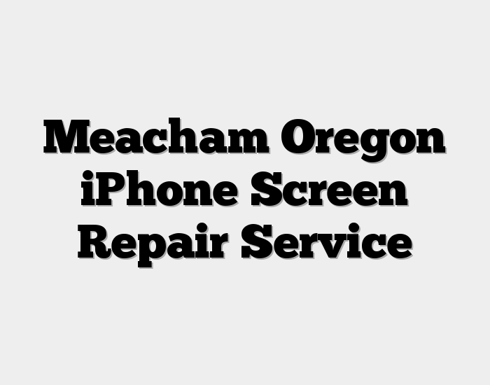 Meacham Oregon iPhone Screen Repair Service