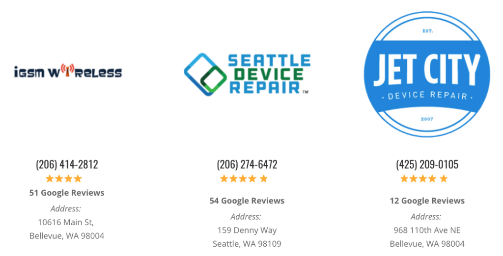 seattle iphone screen repair shops