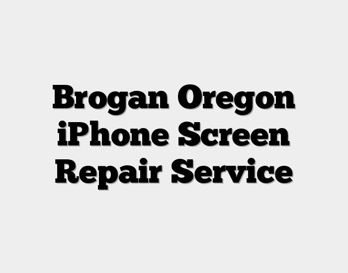 Brogan Oregon iPhone Screen Repair Service