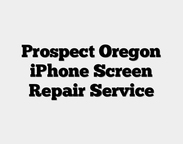 Prospect Oregon iPhone Screen Repair Service